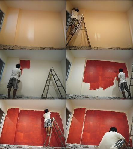 Malování válečkem se vzorem