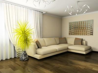 Barevné záclony do obýváku