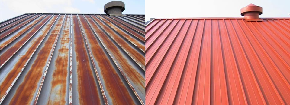 Barva na plechovou střechu cena