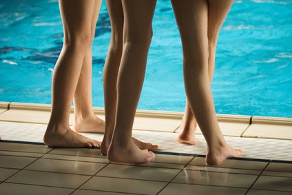 Slaná voda v bazénu