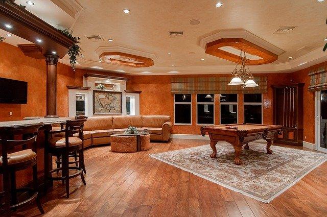 Kulečník vynikne i v prostorově velkorysém obývacím pokoji