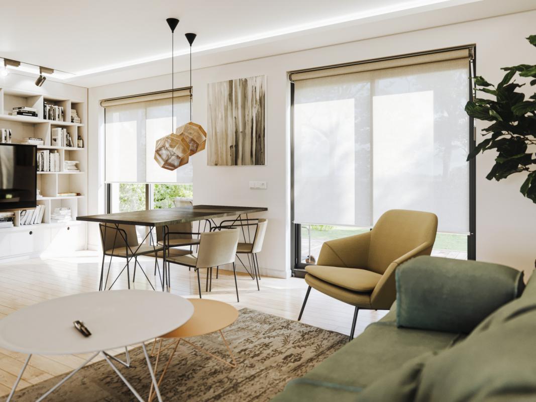 Pro skandinávský styl bydlení se hodí rolety v pastelových barvách, v šedé a také v bílé.