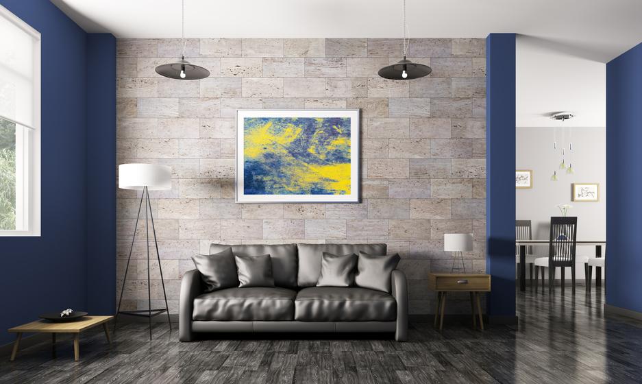Obklady v dekoru kamene zútulní i váš obývací pokoj